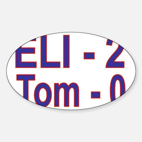 Eli-2 Tom-0 Sticker (Oval)