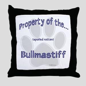 Bullmastiff Property Throw Pillow