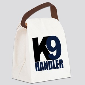 k9-handler02_black_blue Canvas Lunch Bag