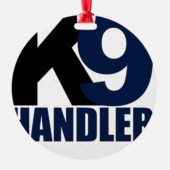 k9-handler02_black_blue Ornament