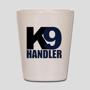 k9-handler02_black_blue Shot Glass