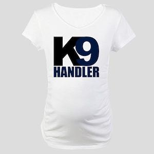 k9-handler02_black_blue Maternity T-Shirt