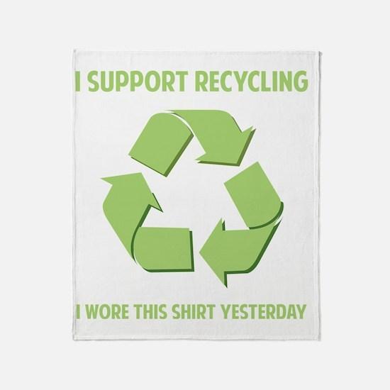 recycledWore1B Throw Blanket