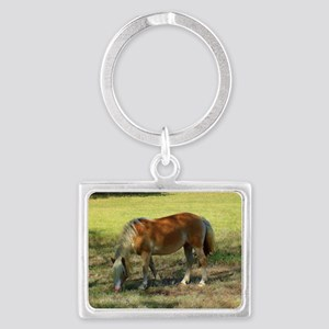 Doing Lunch Alone Landscape Keychain