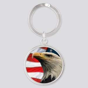 Selous-Eagle Round Keychain