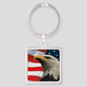 Selous-Eagle Square Keychain
