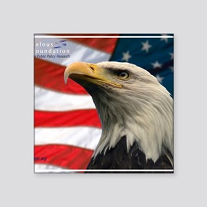 "Selous-Eagle Square Sticker 3"" x 3"""