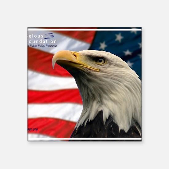 "Selous-Eagle Square Sticker 3"" x 3"""