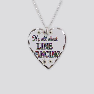LINE Necklace Heart Charm