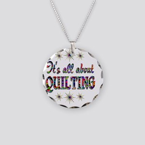 QUILTING Necklace Circle Charm