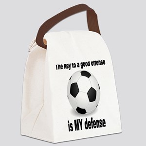 SOCCER key to go offense black le Canvas Lunch Bag