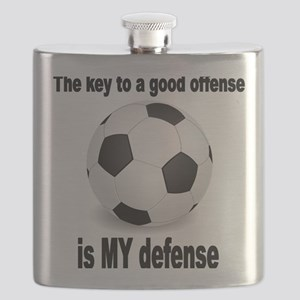 SOCCER key to go offense black letters Flask