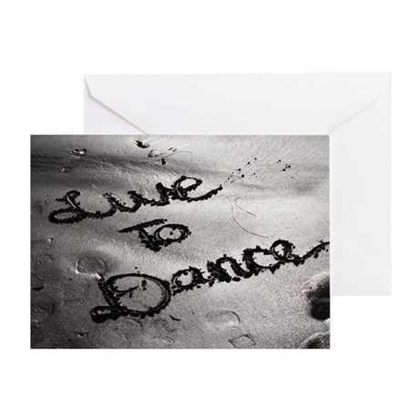 Live To Dance Greeting Card
