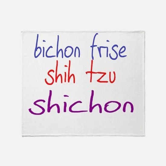 shichon_black Throw Blanket