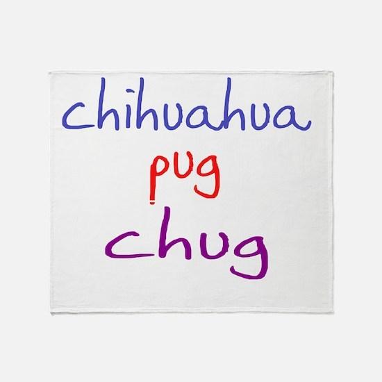 chug_black Throw Blanket