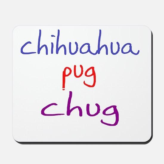 chug_black Mousepad