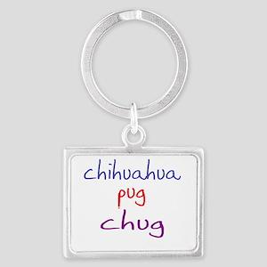 chug_black Landscape Keychain