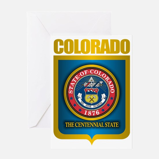 Colorado (Gold Label) Greeting Card