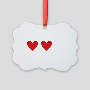 heartRuinedB Picture Ornament