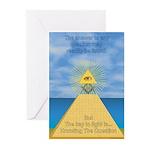 Masonic Pyramid Greeting Cards (Pk of 10)