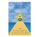 Masonic Pyramid Postcards (Package of 8)