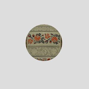 Ukrainian Embroidery Mini Button