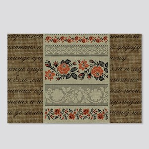Ukrainian Embroidery Postcards (Package of 8)