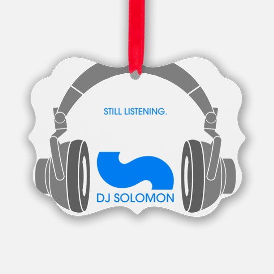 dj solomon still Listening blue Ornament