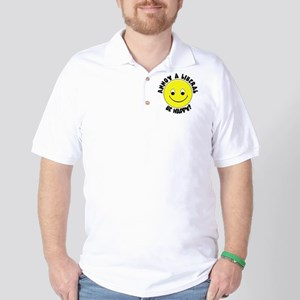 Annoy a Liberal Button Golf Shirt