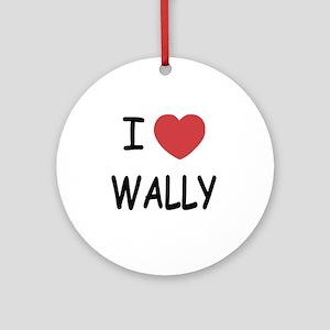 WALLY Round Ornament