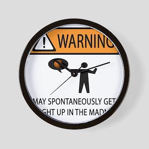 warning basketball 2 Wall Clock