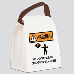 warning basketball 2 Canvas Lunch Bag