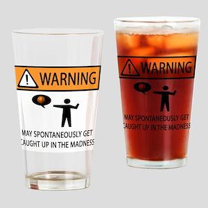 warning basketball 2 Drinking Glass
