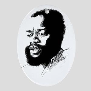 Ojukwu sketch white Oval Ornament