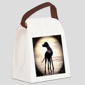 BeachDogbig Canvas Lunch Bag