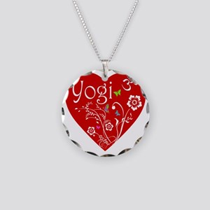 Yogi Heart Necklace Circle Charm