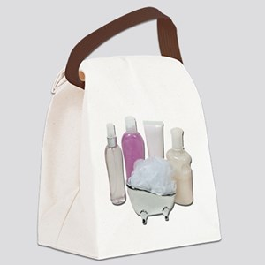 LotionCreamScrubberTub123111 Canvas Lunch Bag