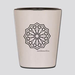 iPhone Alhambra Mandala Dark Grey Shot Glass