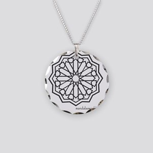 iPhone Alhambra Mandala Dark Necklace Circle Charm