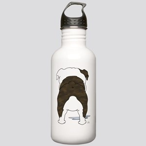 BrindleBulldogShirtBac Stainless Water Bottle 1.0L