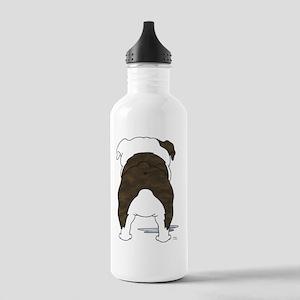 BrindleBulldogShirtBac Stainless Water Bottle 1.0L