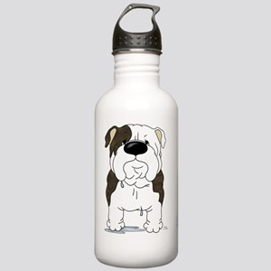 BrindleBulldogShirtFro Stainless Water Bottle 1.0L