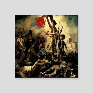 """LibertyLeadingthePeople1830 Square Sticker 3"""" x 3"""""""