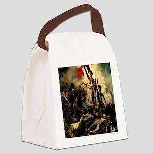 LibertyLeadingthePeople1830Eugene Canvas Lunch Bag