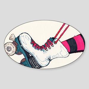 Roller Skate Sticker (Oval)