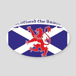 Scotland the Brave 1 Oval Car Magnet