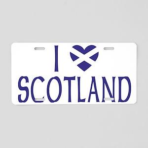 I Heart Scotland Border Aluminum License Plate