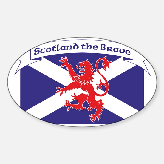 Scotland the Brave 1 Sticker (Oval)