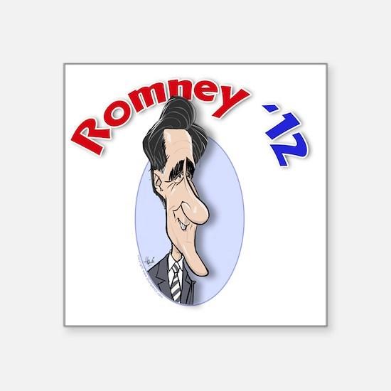 "Romney-cartoon-undergarment Square Sticker 3"" x 3"""