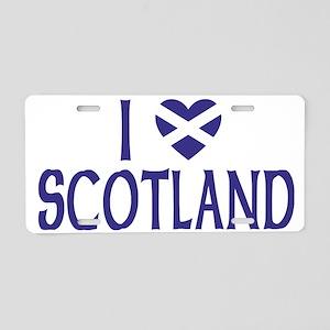 I Heart Scotland No Border Aluminum License Plate